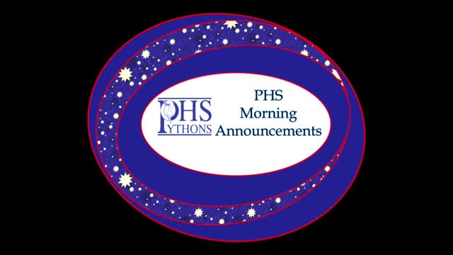 PHS Morning Announcements 11-7-16