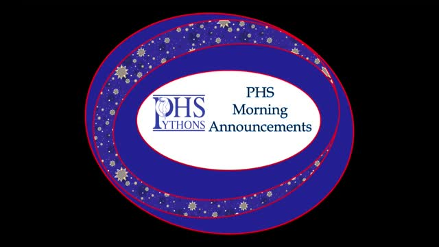 PHS Morning Announcements 9-19-16