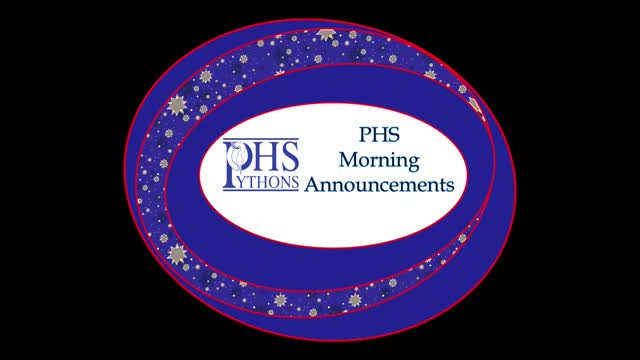 PHS Morning Announcements 9-22-16