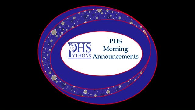 PHS Morning Announcements 9-23-16
