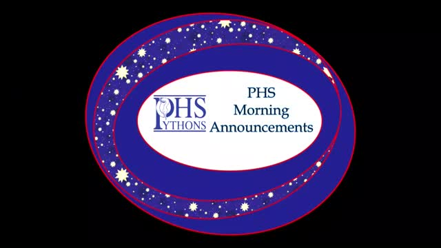 PHS Morning Announcements 9-26-16