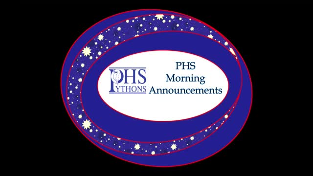 PHS Morning Announcements 9-27-16