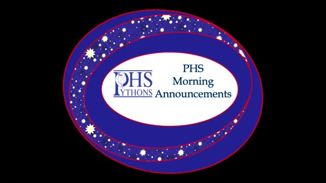PHS Morning Announcements 9-28-16