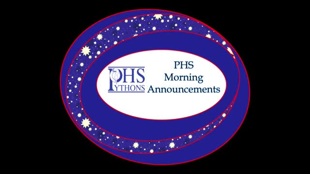PHS Morning Announcements 9-30-16