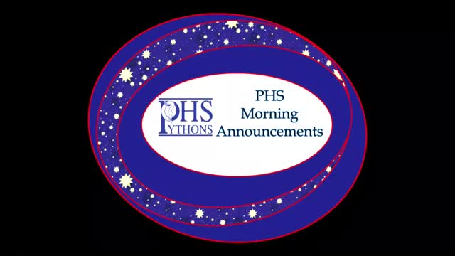 PHS Morning Announcements 10-4-16
