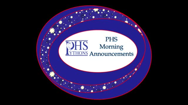 PHS Morning Announcements 10-6-16