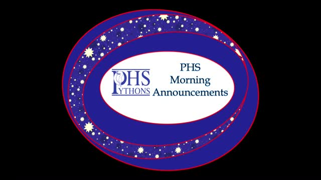 PHS Morning Announcements 10-17-16