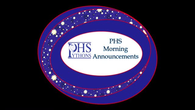 PHS Morning Announcements 10-27-16