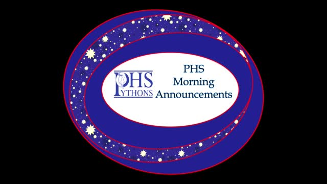 PHS Morning Announcements 11-14-16