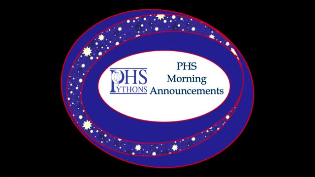 PHS Morning Announcements 11-18-16